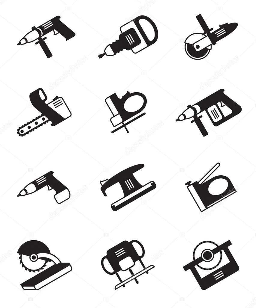 Power tools for construction - vector illustration — Stock Vector #14686887