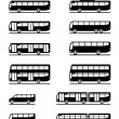 Buses and coaches - Stock Vector