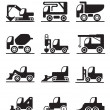 Construction trucks and vehicles — Stock Vector