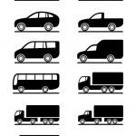 Road transportation icons set — Stock Vector