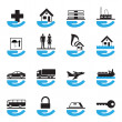 Diverse insurance icons set — Stock Vector