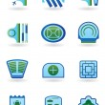 Urban public buildings icons set — Stock Vector #14759573
