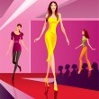Fashion models representing a new collection — Stock Vector #14759605