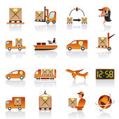 Logistic icons set — Stok Vektör