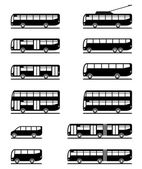 Buses and coaches — Stock Vector