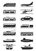 Passeggeri e trasporto pubblico — Vettoriale Stock