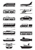 Passenger and public transportation — Vector de stock