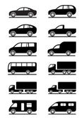 Road transportation icons set — Stockvector