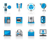 Communication and media icons set — Stock Vector