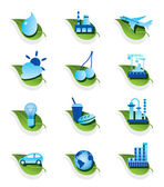 Diverse ecological icons set — Stock Vector