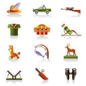 Hunting accessories and symbols — Stock Vector
