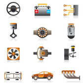 Parts of the car engine — Stock Vector