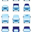 Stock Vector: Road transport icons set