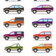 Different off road and SUV cars — Vector de stock #15473057