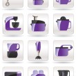 Household appliances for kitchen — Image vectorielle