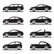 Different modern cars - Stock Vector