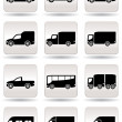 Road transport icons set — Stock Vector