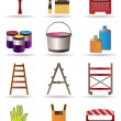 Stock Vector: Painting and construction tools