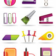 Office, school and education bookstore tools — Stock Vector