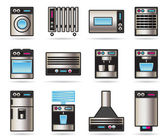 Household Appliances icons set — Stock Vector