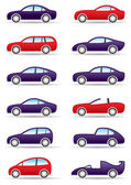 Different types of modern cars — Stock Vector