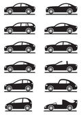 Different modern cars — Stock Vector