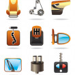 Car parts icon set — Stock Vector
