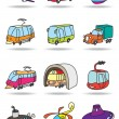 Transportation icon set — Stockvektor #15573251