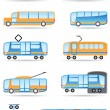Stock Vector: Public transport icons set