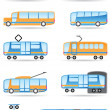Public transport icons set — Stock Vector