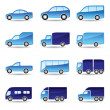 Road transport icon set — Stock Vector