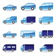 Stok Vektör: Road transport icon set