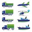Vehicles icons set - Stock Vector