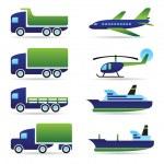 Vehicles icons set — Stock Vector