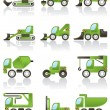 Stock Vector: Building vehicles icons set