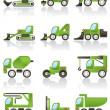 Building vehicles icons set — Stock Vector