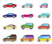 Popular types of cars — Stock Vector