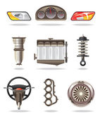 Car parts and accessories — Stock Vector