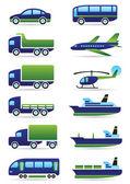 Conjunto de ícones de veículos — Vetorial Stock