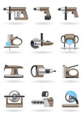 Building and furniture power tools — Stock Vector