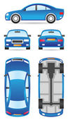 Car in different views — Stockvector