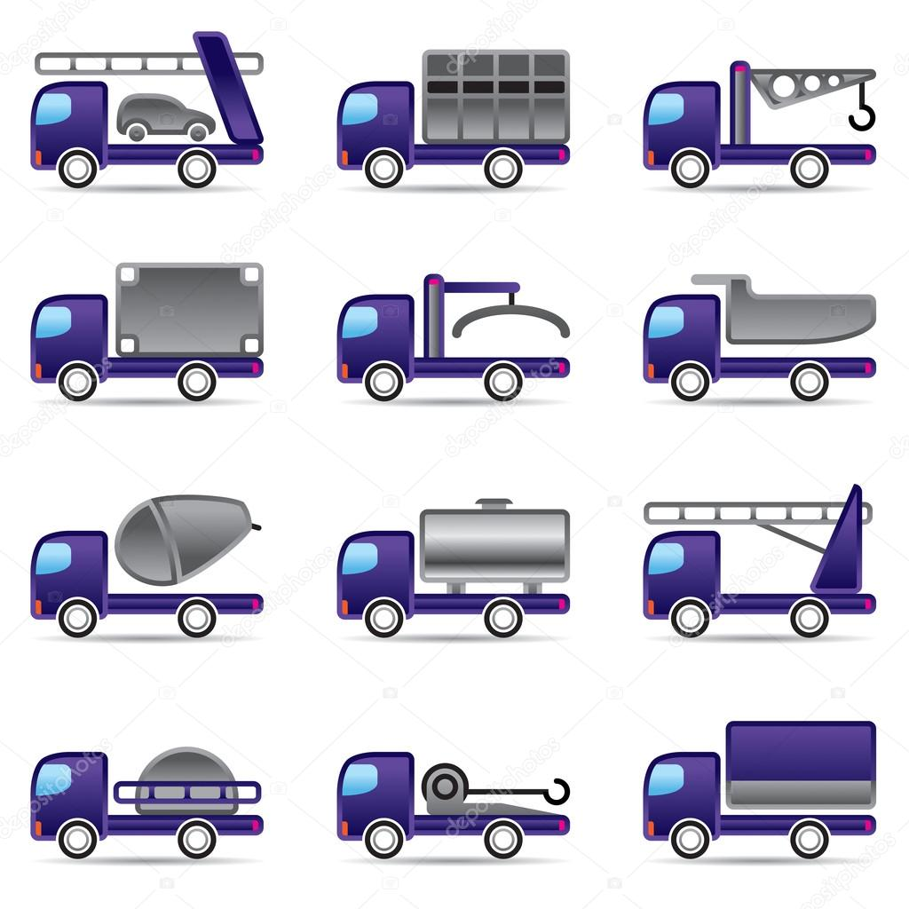 Diff rents types de camions image vectorielle angelha - Differents types de miroirs ...