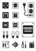 Electrical network devices — Stock Vector