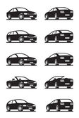 Popular cars in perspective — Stock Vector