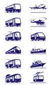 Toplu ulaşım icon set — Stok Vektör