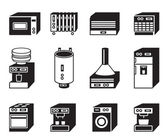 Household appliances icon set — Stock Vector