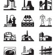 Different types of industrial construction — Stock Vector