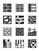 Various construction materials — Stock Vector