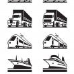 Passenger and cargo transportation — Stock Vector