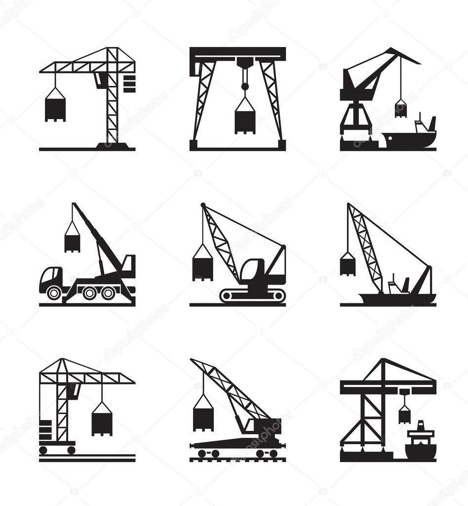 Diff rents types de grues image vectorielle 34490663 - Differents types de miroirs ...